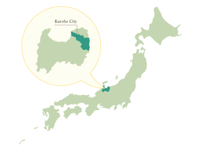 Kurobe City , Toyama